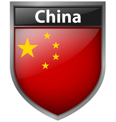 badge design for flag of china vector image