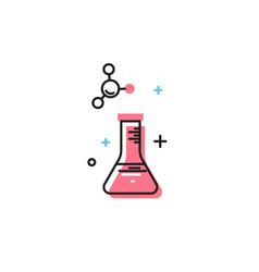 beaker icon vector image