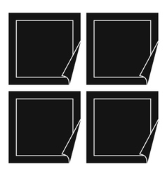 Black stickers icon simple style vector image vector image