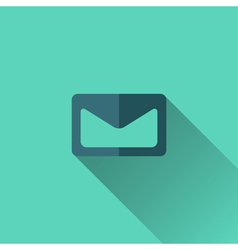 Blue envelope icon flat design vector