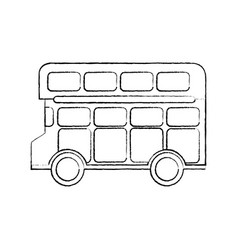 Bus double deck icon image vector