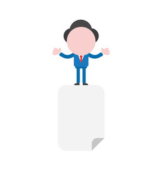 businessman character on blank paper vector image