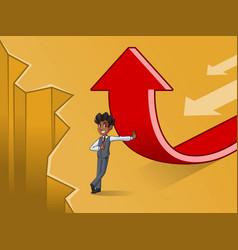 Businessman in vest change of a direction concept vector
