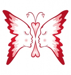 butterfly of love vector image
