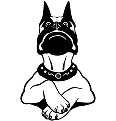 Cartoon boxer black white vector