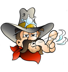 cartoon of an cowboy sheriff vector image