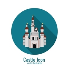 Castle icon Palace design Flat vector image