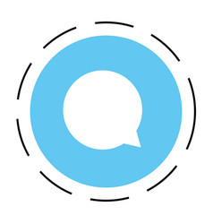 chat bubble round symbol vector image