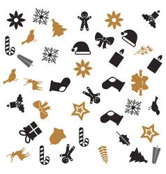 christmas decoration celebration seamless pattern vector image
