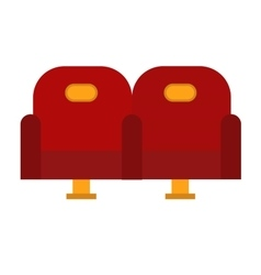 Cinema chairs vector