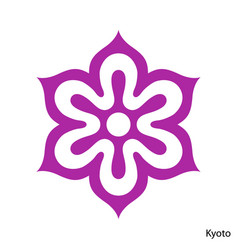 Coat arms kyoto is a japan prefecture emblem vector