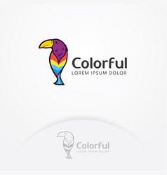 colorful bird logo vector image