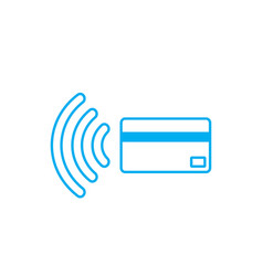 Contactless payment icon near-field communication vector