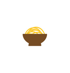 delicious noodle on a bowl vector image