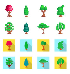 Design of tree and nature icon collection vector