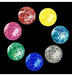 disco ball collection vector image