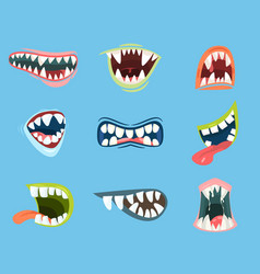 Dracula or monster vampire cartoon mouth vector