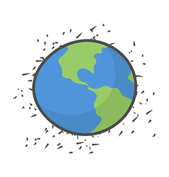 Earth on a white background vector image