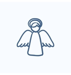 Easter angel sketch icon vector image