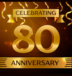 Eighty years anniversary celebration design vector