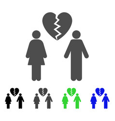 Family divorce icon vector