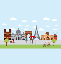 Famous monuments france vector