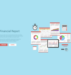 financial report vector image