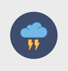 Flat cloud flash icon vector