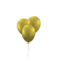 Golden balloons background vector