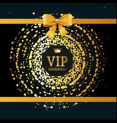 golden vip round sphere dotted background vector image