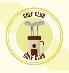 golf club championship bag with sticks vector image