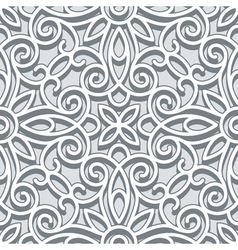 Grey lace pattern vector image vector image