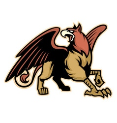 Griffin mythology creature mascot vector