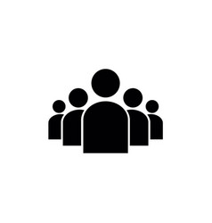 Group of people in a formation icon vector