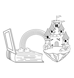 isolated castle and book design vector image