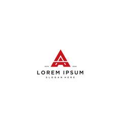 Letter a logo design concept vector
