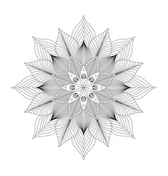 mandala tribal ethnic ornament art vector image