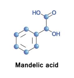 Mandelic acid molecule vector