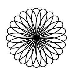 monochrome circular strokes forming petals vector image