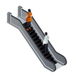 Move up escalator icon isometric style vector