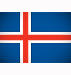 national flag iceland vector image