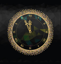 new years eve clock vector image