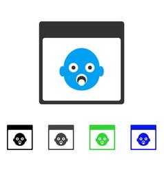 Newborn head calendar page flat icon vector