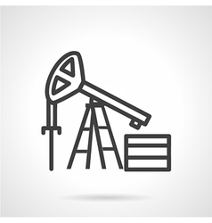 Oil derrick simple line icon vector image