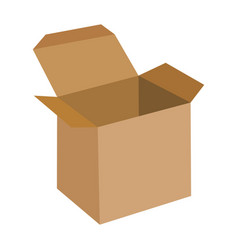open flat box icon eps 10 vector image