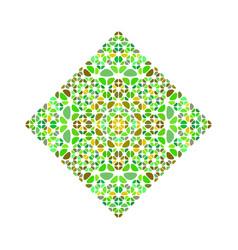 Ornate isolated geometrical petal square logo vector