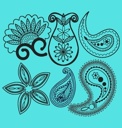 Paisley and swirls decoration element vector image