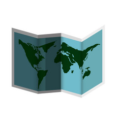 Paper map guide icon vector