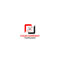 pd real estate logo design vector image