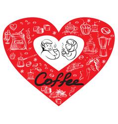 People loves coffee vector